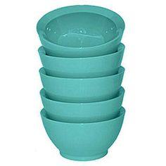 CaliBowl Del Mar Ceramic Retro Aqua Blue Bowls