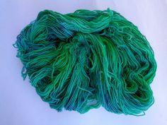 Hand Dyed Yarn, Calipso - SW Merino/Nylon Fingering Wt.