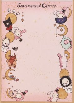 kawaii Memo Pad Sentimental Circus bunny Shappo moon Japan 3