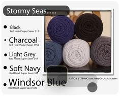 Red Heart Super Saver Color Mix: STORMY SEAS