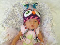 Newborn Photo Prop Baby Owl hat Newborn hats knit by Ritaknitsall