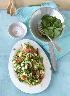 Rezept: Kräuter-Bulgur-Salat mit Schafskäse