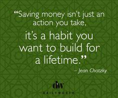 Build good habits.