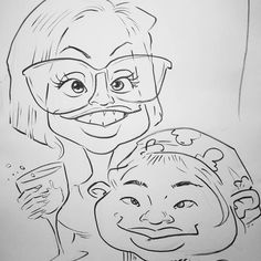 Who are these two party girls? #party #friend #bestie #drawing #caricature #lampawards #goodmorningpost  #partynight  #lighting
