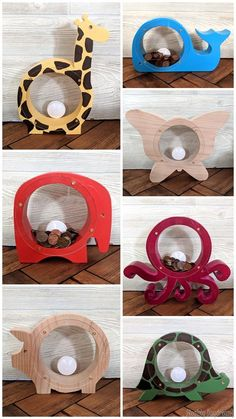 Wood and acrylic animal shaped banks with a window! {Reality Daydream} Wood and acrylic animal shaped banks with a window! {Reality Daydream} The post Wood and acrylic animal shaped banks with a window! {Reality Daydream} appeared first on Spardose ideen. Woodworking Toys, Woodworking Projects Diy, Wood Projects For Kids, Diy Projects, Bois Diy, Wood Animal, Wood Gifts, Diy Gifts, Wood Toys