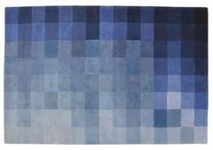 ligne roset CHART blue by Nick Rennie at Ligne Roset, Carpet Design, Get The Look, Shades Of Blue, Design Trends, Home Accessories, Chart, Blanket, Rugs