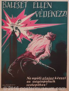 Guard Against Accidents! Metal Workshop, Safety Posters, Various Artists, View Image, Vintage Ads, Budapest, Wonders Of The World, Tables, Touch