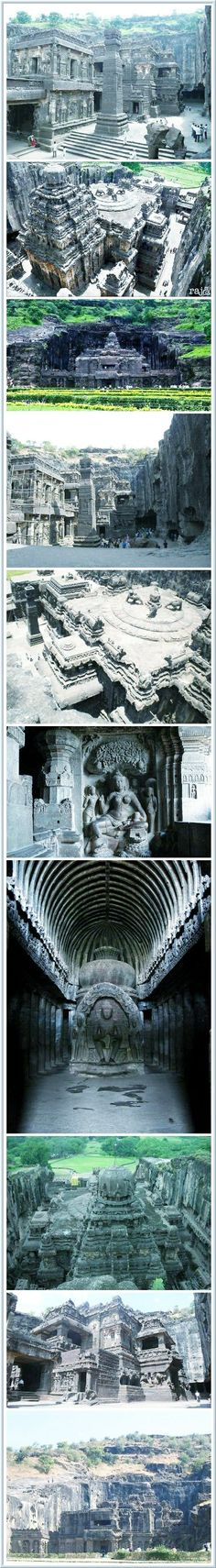 JOJO POST STAR GATES: 400 millions years old underground facility located in India (The Kailasa in Ellora, India), situated iln a natural Limestone now open at the top that no one knows who and why built it. This underground facility became a place of hindus worship! In the 1800s as a Temple. Who and why they built it? What do we know?