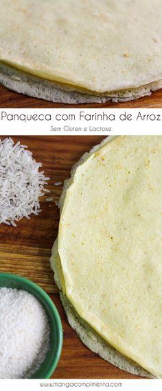 Panqueca com Farinha de Arroz – Sem Farinha de Trigo (Glúten) e Leite (Lactose) #receita #glúten #lactose #panqueca #comida