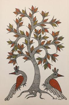 Kerala Mural Painting, Madhubani Painting, Dance Paintings, Indian Paintings, Tree Of Life Painting, Art Drawings Beautiful, Madhubani Art, Indian Folk Art, Peacock Art