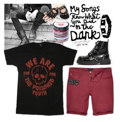 """""""light em up"""" by hell-hound ❤ liked on Polyvore featuring River Island, T.U.K., Manic Panic, Aspinal of London, men's fashion, menswear, emo, falloutboy and fob"""