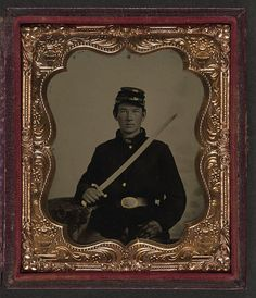 [Unidentified soldier in Union uniform with sword] (LOC) by The Library of Congress, via Flickr