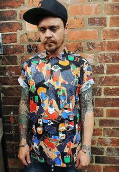 Vintage Abstract African print Shirt