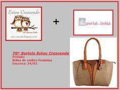 Vou ganhar a linda bolsa de ombro feminina do Portal das Bolsas que estão sorteando no blog http://estou-crescendo.blogspot.com.br/