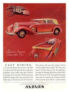 - Auburn, Art Deco Car Advert, 1930s