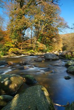 Dartmeet | Dartmoor | Devon - Autumn, Rivers, Rocks and Trees - Landscape Photo Picture Image - Neville Stanikk Photography