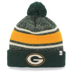 Men's 47 Brand Nfl Fairfax Cuff Beanie ($12) ❤ liked on Polyvore featuring men's fashion and packers
