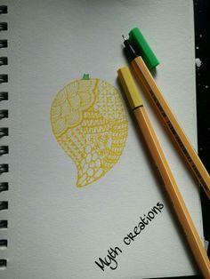 Zentangle fruit