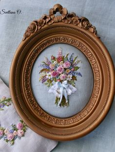 Wonderful Ribbon Embroidery Flowers by Hand Ideas. Enchanting Ribbon Embroidery Flowers by Hand Ideas. Hardanger Embroidery, Rose Embroidery, Silk Ribbon Embroidery, Hand Embroidery Patterns, Embroidery Stitches, Embroidery For Beginners, Embroidery Techniques, Brazilian Embroidery, Wall Mirror