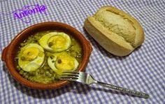 Huevos En Salsa De Guisantes