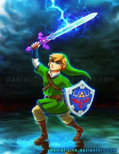 Link: Skyward Sword by Daniel-Link on DeviantArt Twilight Princess, Princess Zelda, Zelda Video Games, Zelda Tattoo, Iconic Characters, Fictional Characters, Most Popular Videos, Skyward Sword, Breath Of The Wild