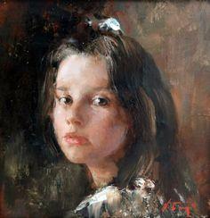 """Nikolai Blokhin Anya 16""""x16"""", oil on canvas, 2010"""