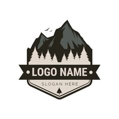 DesignEvo s logo maker helps you create custom logos in minutes for free, no design experience needed Try with millions of icons and 100 fonts immediately! Custom Logo Design, Custom Logos, Graphic Design, Logo Maker, Berg Logos, Outdoor Logos, Deer Design, Mountain Logos, Online Logo