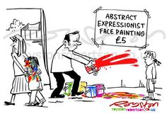 Royston Cartoons: Abstract Expressionist Face Painting