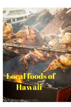 Local foods of Hawaii including desserts #hawaiianfoods #localstyle #hawaiifood