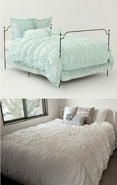 DIY Anthropologie-inspired comforter http://neroliblossoms.blogspot.com.au/2011/11/anthropologie-cirrus-duvet-diy-tutorial.html