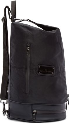 54fd744e8bb6 adidas by Stella McCartney - Black Nylon Gymbag 5 Backpack Stella Bag