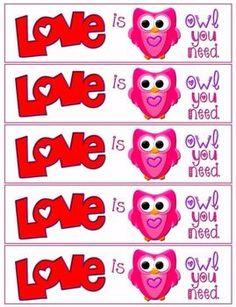 Love is Owl You Need FREE Bookmark Printable. Pinned by www.myowlbarn.com