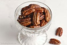 Easy Candied Pecans Recipe (Just 5-Minutes and 4-Ingredients!) {www.TwoHealthyKitchens.com}