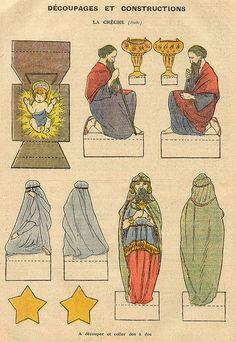 vintage printable nativity