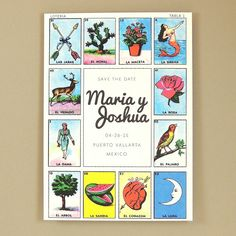 Maria Suite - Mexican Loteria Save The Date / Announcement - Customizable Wedding Save the Date - Sample on Etsy, $2.50