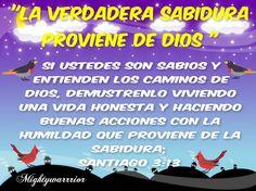 JESUS PODEROSO GUERRERO: LA VERDADERA SABIDURIA PROVIENE DE DIOS