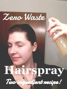 This all natural, two ingredient recipe is the perfect hairspray alternative you have been looking for! Providing a medium hold, it's a hairspray you'll love and feel good about using!