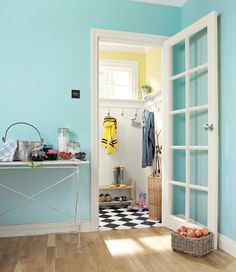 Might be time to think about brightening up the certain parts of the house! Colour: Powder Blue mid sheen #interiors