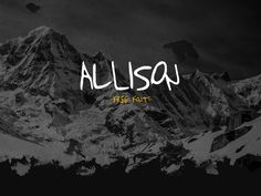 Allison is a clean and great free design Font for logo, poster, wedding, brithday. This font contain the full set of letters, numbers, and special characters.