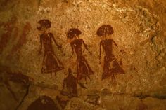 Rock art from Ennedi Plateau, in Chad.