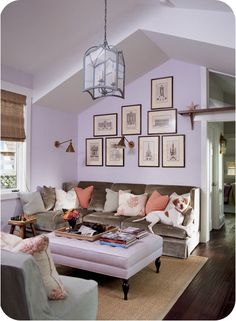lilac walls for an office