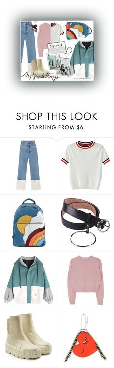 """""""#Style of city."""" by natachataudin ❤ liked on Polyvore featuring Loewe, WithChic, Anya Hindmarch, Puma, Sonia by Sonia Rykiel, Trouvaille and Polaroid"""