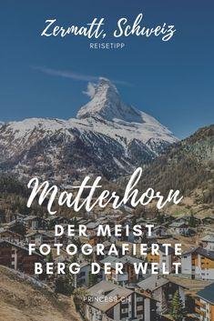 Zermatt, Schweiz: Die Reise zum Matterhorn mit der Gronergrat Bahn. Der meist fotografierte Berg der Welt. Ski fahren im Winter, wandern im Sommer.  #travelswitzerland #matterhorn #zermatt Zermatt, Reisen In Europa, Europe Travel Guide, All Over The World, Mount Everest, Berg, Explore, Lifestyle, International Food