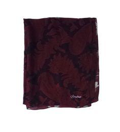 Gauthier Burgundy & Black Printed Silk Scarf