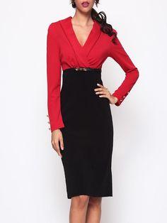 #BFCM #BlackFriday #CyberMonday #Fashionmia - #Fashionmia Assorted Colors Delicate V Neck Bodycon-dress - AdoreWe.com