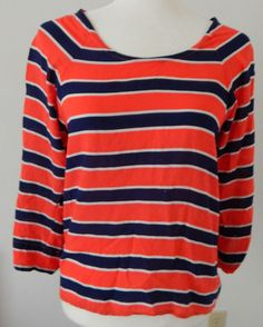 Anthrolopogie Thyme and Honey shirt size small Orange Blue Tunic Hi Lo Cute GUC #Anthropologie #KnitTop #Career