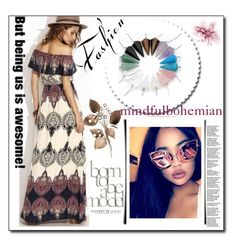 """""""MINDFULBOHEMIAN 7"""" by sabinn ❤ liked on Polyvore featuring Børn"""