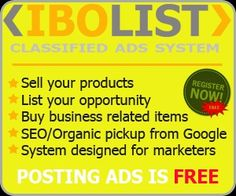 IBOlist Classifieds: IBOLIST Post Ads For FREE, Make Money Listing Details