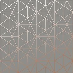 Metro Prism Geometric Triangle Wallpaper - Charcoal and Copper - WOW007