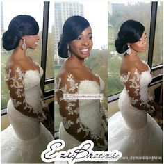 2016 HOT Sexy Mermaid White/Ivory Wedding Dress Bridal Gown Custom Plus in Clothing, Shoes & Accessories, Wedding & Formal Occasion, Wedding Dresses Sheer Wedding Dress, Lace Mermaid Wedding Dress, Wedding Dress Sleeves, Long Sleeve Wedding, Mermaid Dresses, Lace Wedding, Dress Lace, Prom Dress, Gown Dress